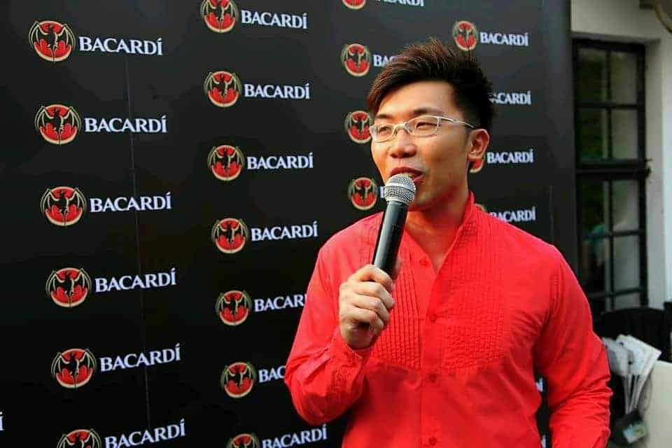 Bacardi Singapore Cocktail Search Media Launch with Professional Emcee in Singapore, Melvin Ho