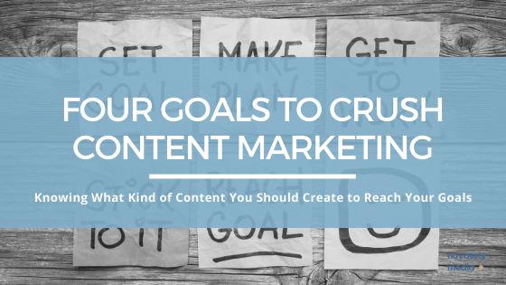 Four Goals for Content Marketing