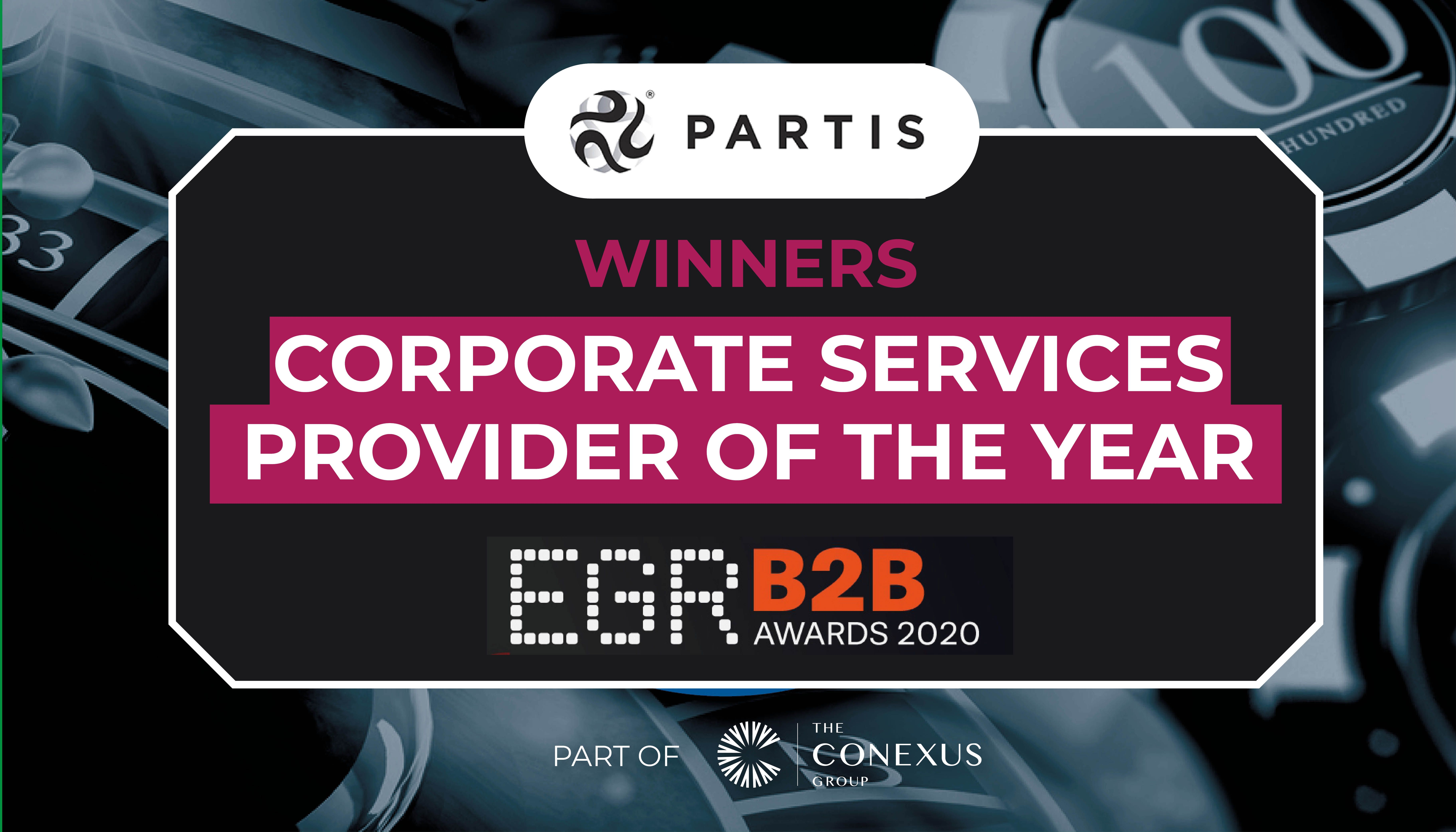 Partis Wins EGR Corporate Services Supplier Award 2020