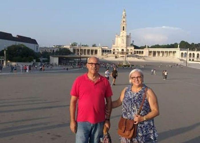 FÁTIMA, una ciudad religiosa. Nuestro grupo visitando el Santuario de la Virgen de Fátima