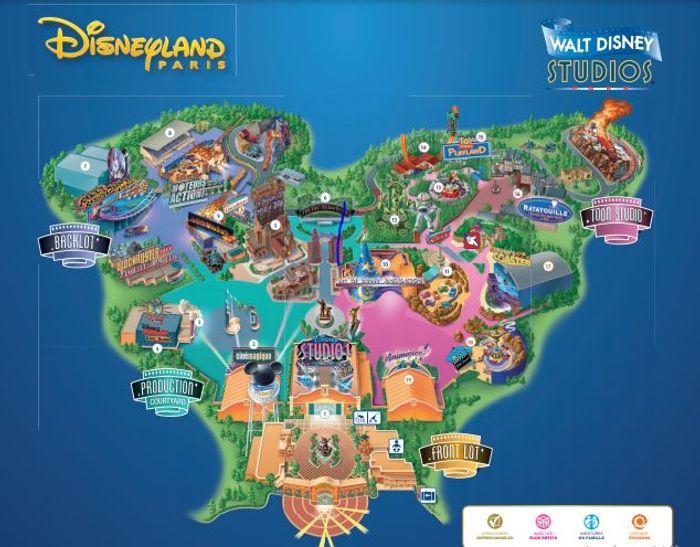 Mapa Walt Disney Studios.
