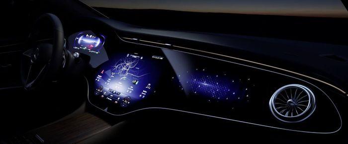 56-дюймовый «гиперэкран» Mercedes-Benz EQS с искусственным интеллектом © media.daimler.com