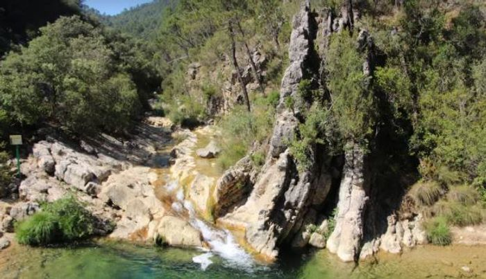 Nacimiento del río Guadalquivir en la Sierra de Cazorla.