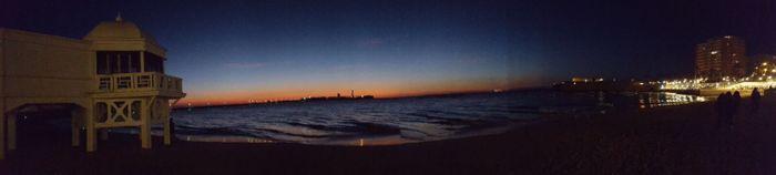 Playa de la Caleta en Cádiz.