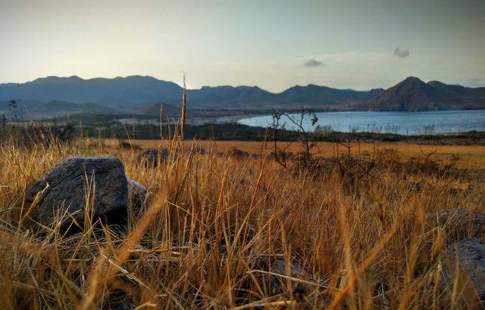 Atardecer en el Parque Natural de Cabo de Gata.