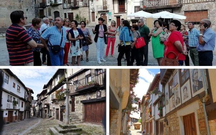 Grupo visitando MOGARRAZ, uno de los pueblos con más encanto de Salamanca