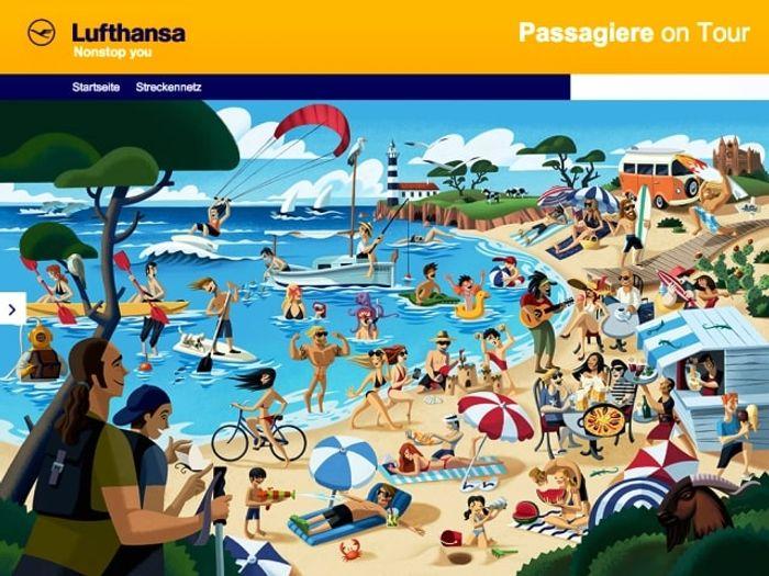 Портал Lufthansa по продаже авиабилетов. скриншот