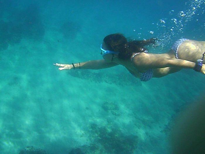 Haciendo snorkel en Cabo de Gata.