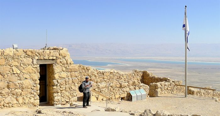 Cerca del Mar Muerto existen los restos de una fortaleza romana llamada Massada...