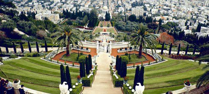 Haifa se conoce por ser ejemplar y tolerante. En la foto, una de las visitas obligadas: los jardines del Templo Bahai