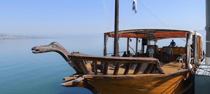¿Sabías que en Israel puedes hacer un paseo en barca por el mar de Tiberiades?