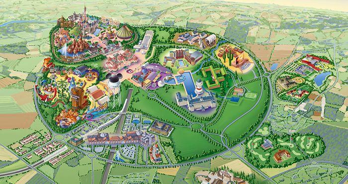 Mapa de Disneyland París.