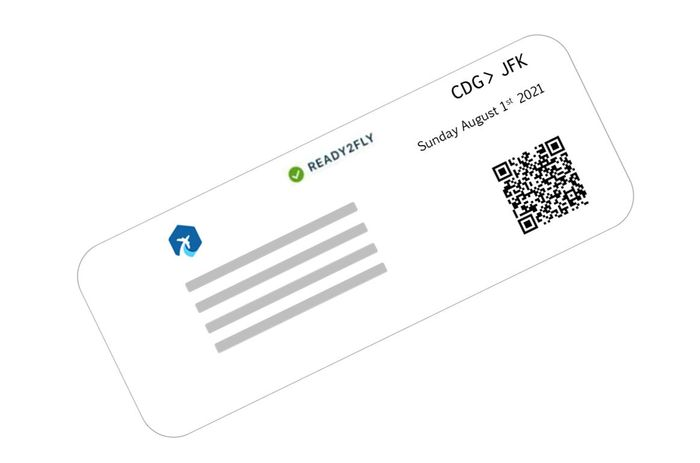 The tag 'Ready2Fly' is displayed on the passenger's boarding pass.