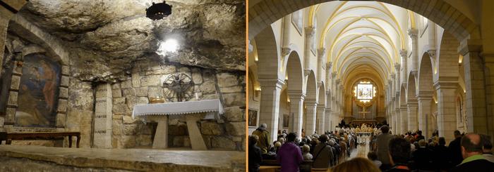 La Gruta de José el Carpintero y la Basílica de la Natividad