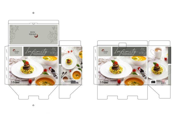 Результат дистанционной съемки - макет упаковки сервизов ТМ