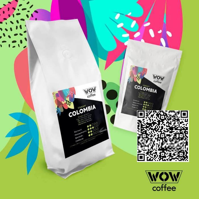 Pict 1. Сертификат подлинности на пачку кофе COLOMBIA 1 кг.