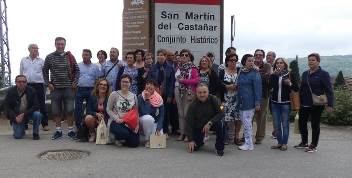 Nuestro grupo en SAN MARTÍN DEL CASTAÑAR