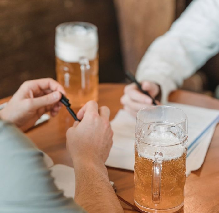 Relax and enjoy the happy hour interview process!