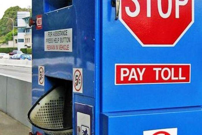 Автомат для оплаты проезда по платной дороге. фото