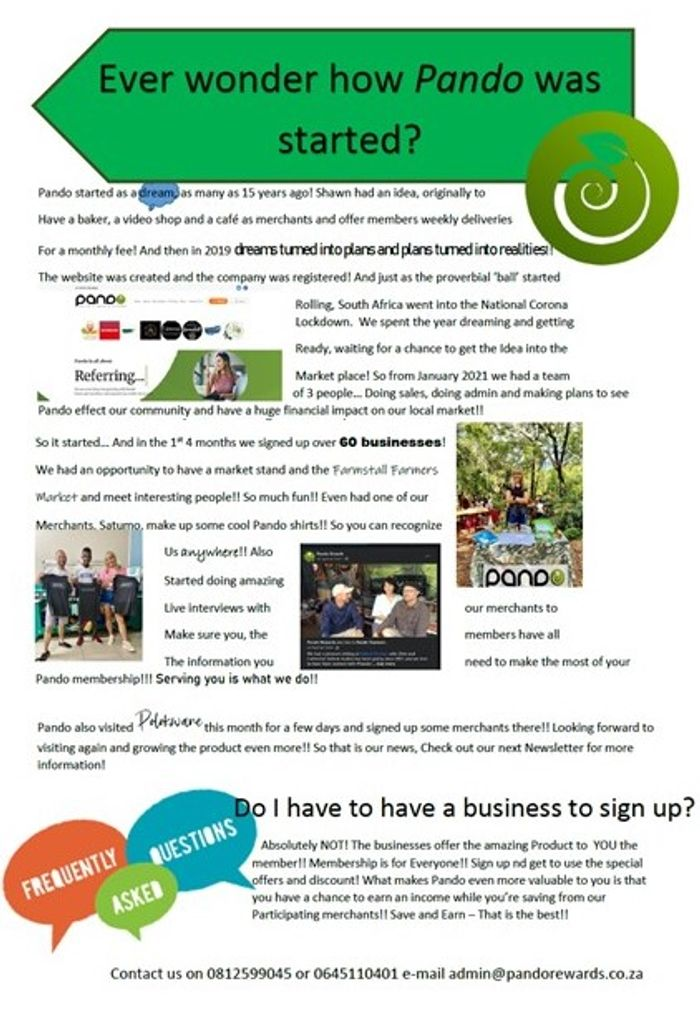 Here is Page 2!! More news and some information about how we started!