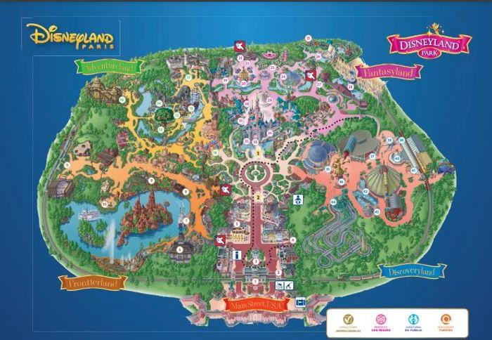 Mapa del Parque Disneyland París.